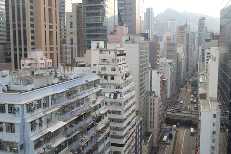a city view of Hennessy Road  CWB to Wan Chai 新聞圖片