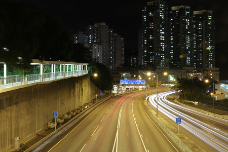 the ching cheung road, highway at night view