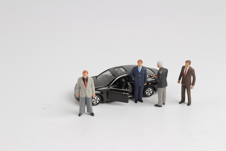 the tiny small business figure with car