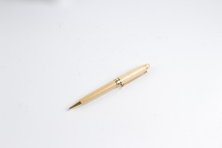the wood Pen isolated on white back ground