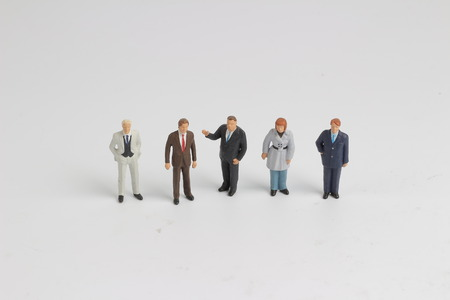 the small of business figure are meeting Stock Photo