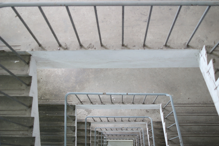 the Security stairs in a building. Safety concept Stock Photo
