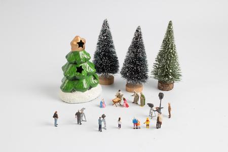 the figure marking of  christmas nativity scene
