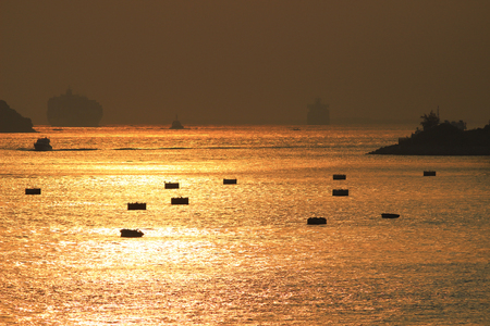 public housing: the sun set of Rambler Channel,  Hong Kong
