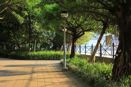 Tsuen Wan Riviera Park at Tsuen Wan hk Editorial