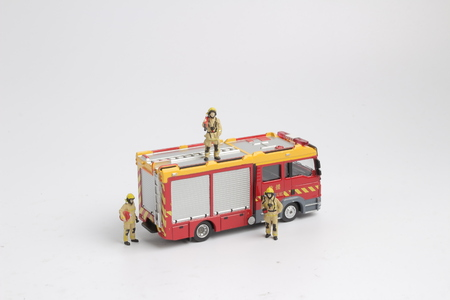the fun of  Figure of a Fireman and  truck