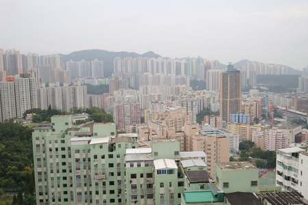 Residential building and Business Area at Kwun Tong