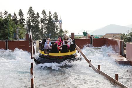 The Rapids at the theme park at Hong Kong Editorial