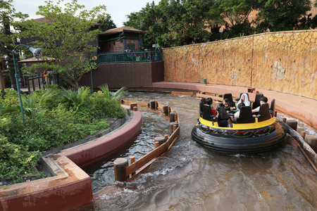 The Rapids at the teme park at hk Editorial