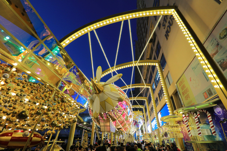 The Christmas time of Hong Kong street view