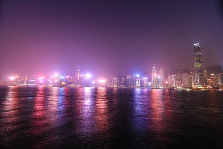 Hong Kong island, skyline and Financial district, China