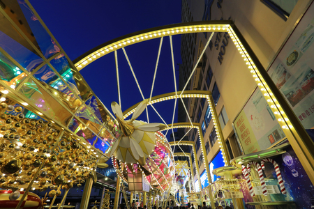 the christmas time of hong kong street view  新聞圖片