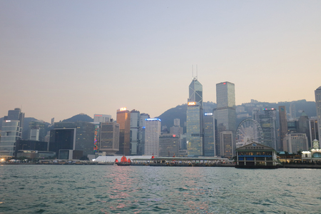 Hk island, skyline and Financial district, China 新聞圖片