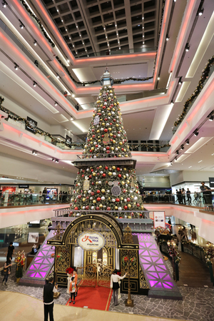 christmas tree in Festival Walk mall in Kowloon Tong