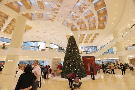 Christmas Tree with gifts at Admiralty mall 新聞圖片