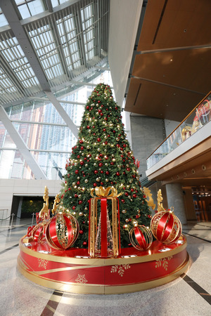 the Christmas decorations at the shopping mall  Stock Photo