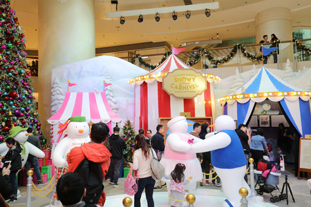 the Christmas decorations at the shopping mall  新聞圖片