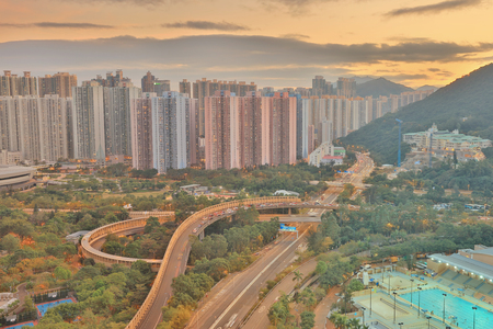 view of Po Shun Road at Tseung Kwan O Stock Photo