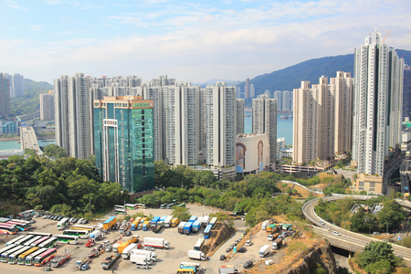the Kwai Tsing District at hong kong 2017