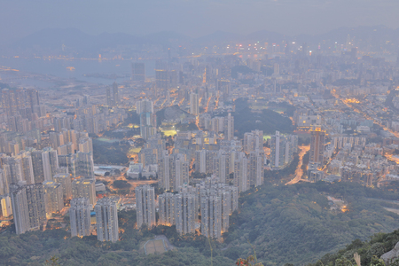 Kowloon view from the Lion rock peak