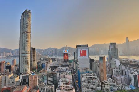 View of the Tsim Sha Tsui, Hong Kong.