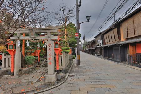 the Kyoto Gion Shirakawa at day time