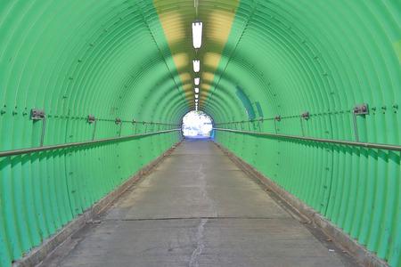 O fundo da sensação de horror túnel de cor verde Foto de archivo - 93748214