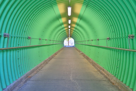 the deep of green color tunnel horror feel