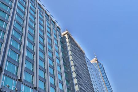 office buildings at Tsim Sha Tsui hk Stock Photo