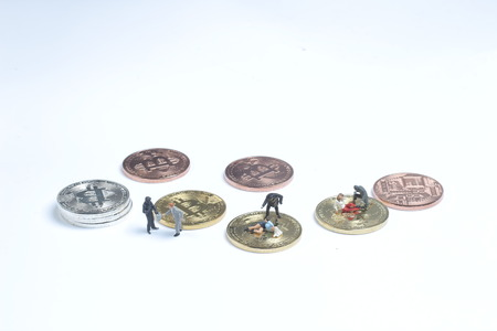 The group of the thief Stealing the bitcoin