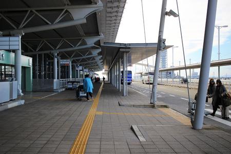 the tour bus at the kix airport