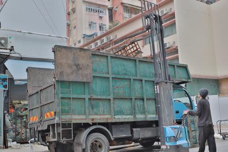 the  truck garbage at Tai Kok Tsui  hk
