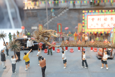 a fun figure model of Old Hong Kong  Stock Photo