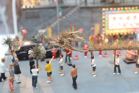 a fun figure model of Old Hong Kong  Stock Photo