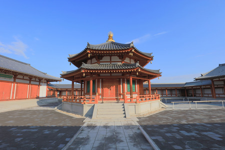 the Genjo Sanzoin Garan of Yakushi ji in Nara, Japan Editorial