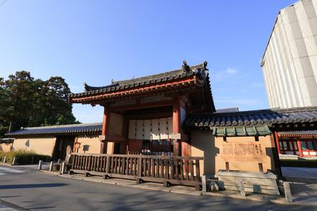 the gate of Yakushi ji Temple in Nara,  Editorial