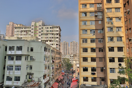 the Tong lau old house at hong kong Editorial