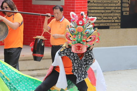 qilin dance at Tin Hau Temple hk
