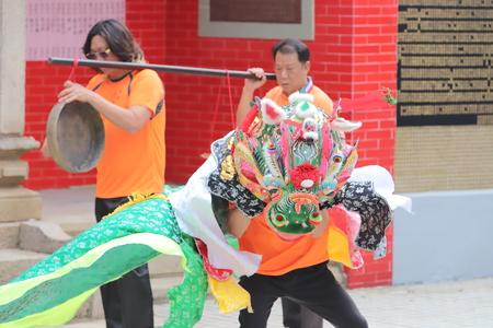 qilin dance at Tin Hau Temple Redakční