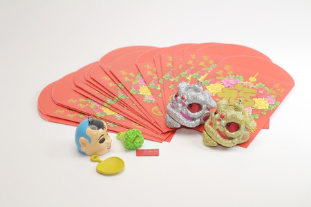 the small toys of lion dance at new year