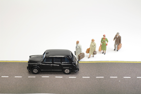 the Travel concept mini figure with luggage
