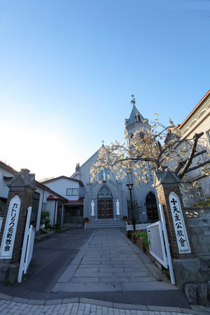 Motomachi Roman Catholic Church in Motomachi district in Hakodate