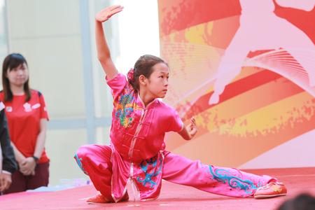 Wushu kids stance at Wushu Demonstration