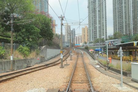 Hong Kong MTR Light Rail.  Tuen Mun District   Editorial