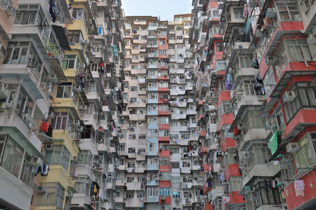 a old tong lau at Quarry Bay