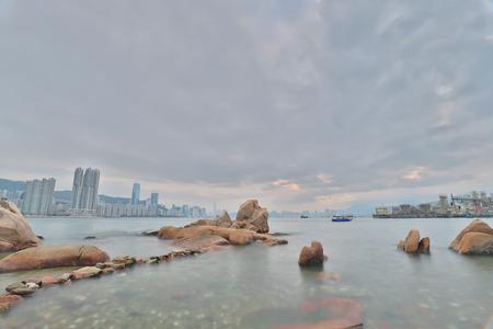 Yau Tong Lei Yue Mun water bay 版權商用圖片
