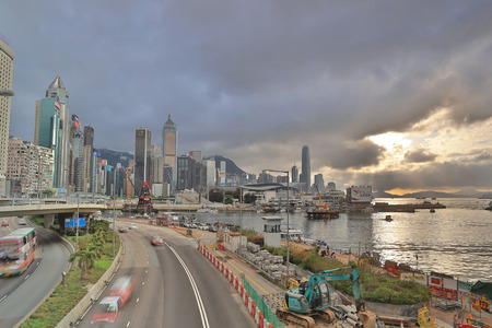 a Gloucester Road day view, hong kong