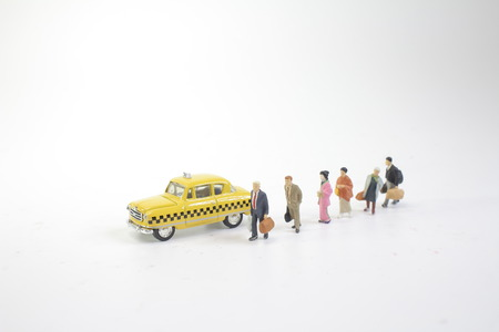 a  mini figure wait the new york taxi