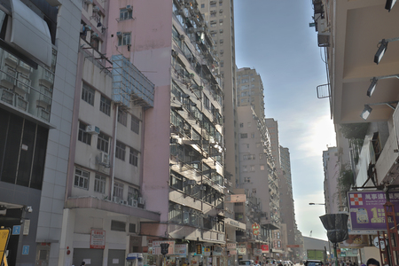 an old apartment building District Shek Tong Tsui  報道画像