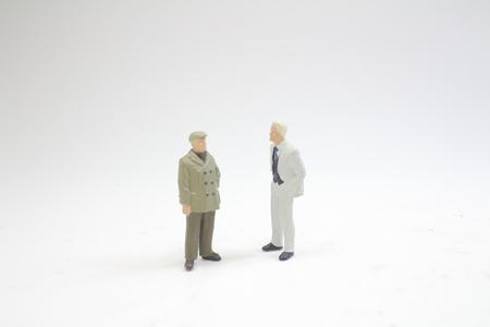 a fun of figure in miniature world 版權商用圖片